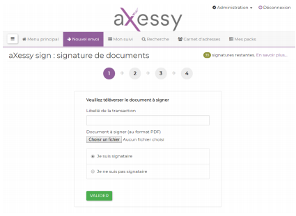 étape 1 émetteur - télécharger le document à signer